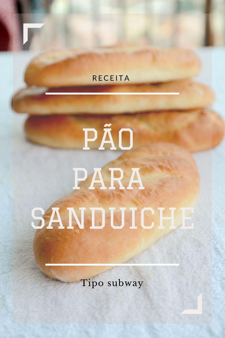 eceita de pão branco tipo italiano para lanche