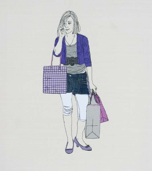 Caroline Kirton  Applique and free machine embroidery