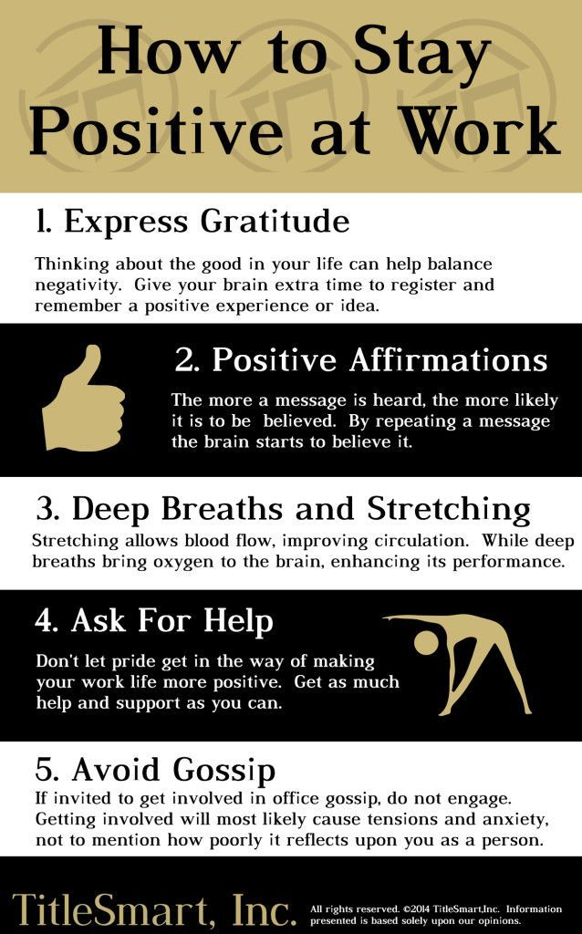 Let's be honest, doing the same routine every day, even if enjoyable, can lead to boredom.  It's very important to love what you do for a living and staying positive is a great place to start.  Our fantastic team at TitleSmart came up with five ways to help YOU stay positive at work.  BLOG | TitleSmart, Inc.TitleSmart, Inc.