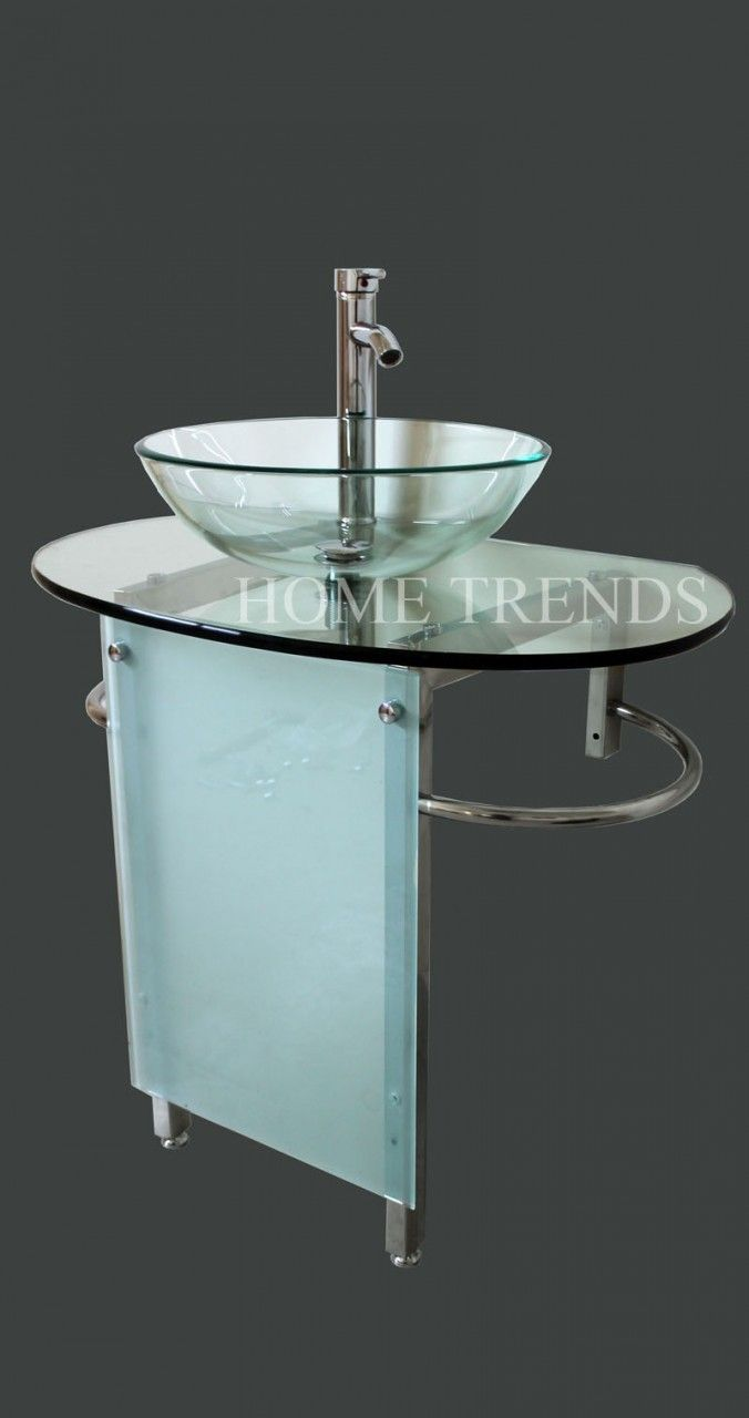 30 wide stainless pedestal glass bowl vessel bathroom for 30 wide bathroom vanity