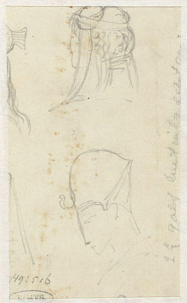 Matthijs Maris | Schetsen van Egyptische hoofddeksels, Matthijs Maris, 1849 - 1917 |