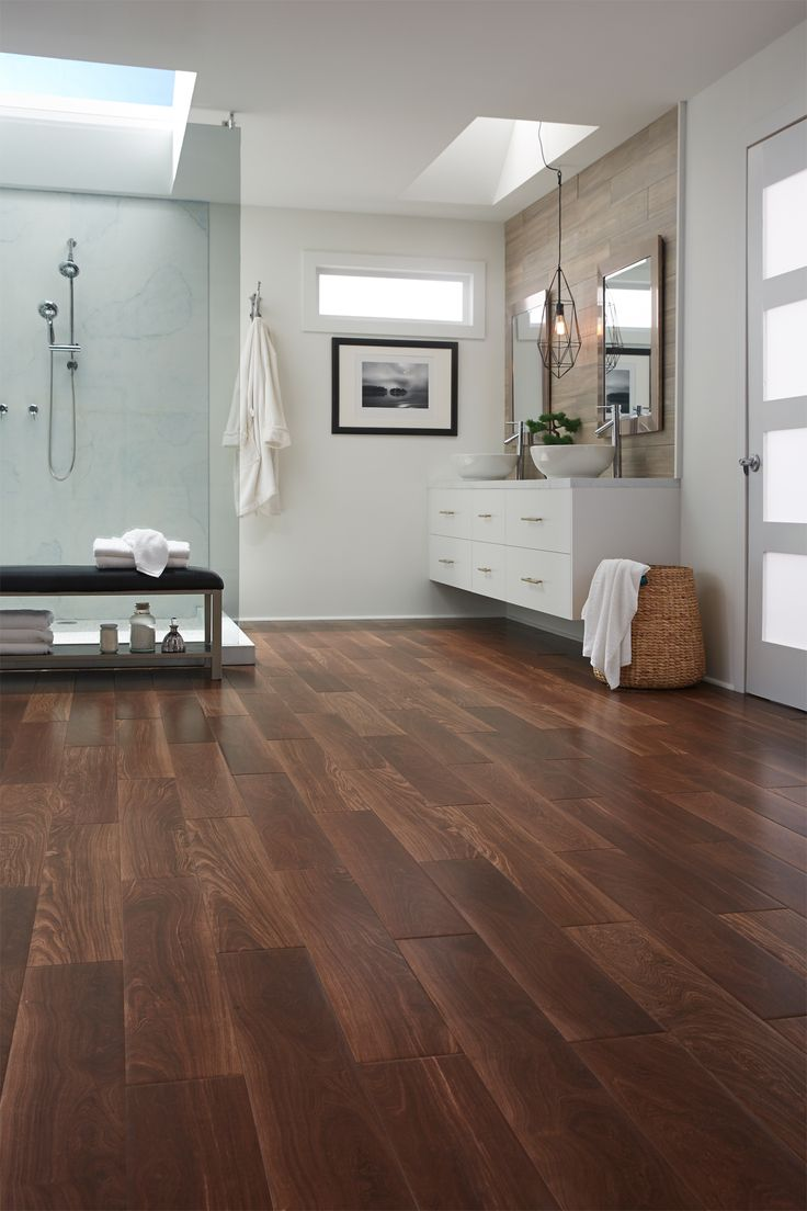 Versatile, durable & beautiful. Wood-look tile styles like Brazilian Ebony are ideal for any room.