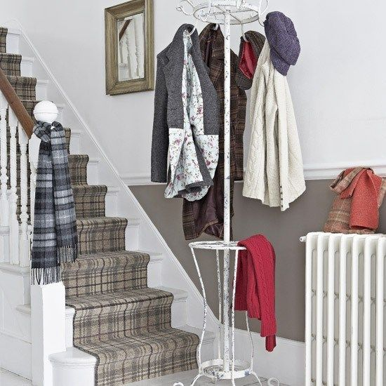 I completely LOVE the plaid on the stairs!