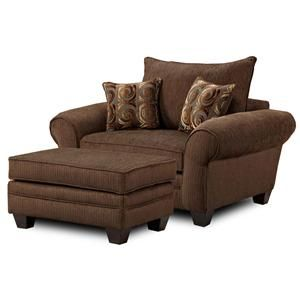 MH910 Oversized Chair and Ottoman Combination by Townhouse - BigFurnitureWebsite - Chair & Ottoman