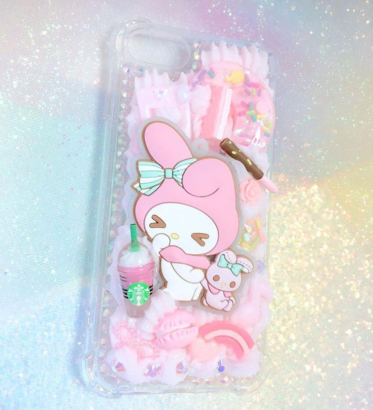 Different view! Custom My Melody Case💕 Customs available here: Etsy.com/shop/…