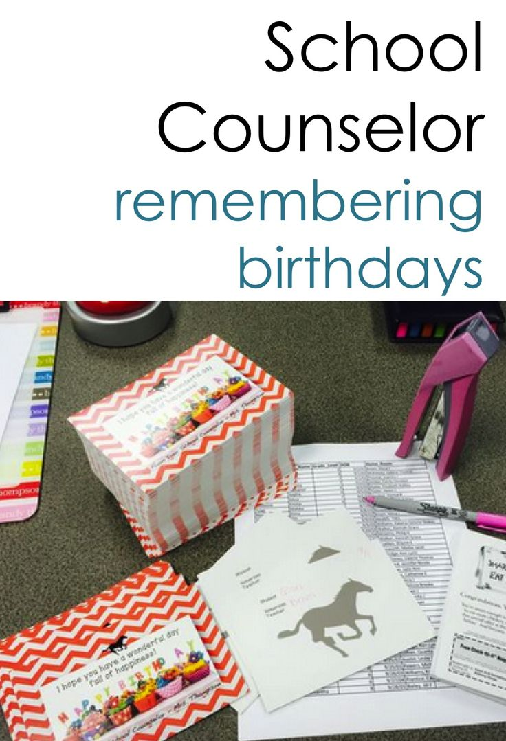 "Birthday cards for faculty and/or students.  4 designs with choice ""from the Counselor"" (just one counselor) or ""from the CounselorS"" (more than one Counselor)  Also includes coupons for teachers and students to attach to the card. (Jeans Day Coupon for faculty and Homework Pass for students)  Build teacher morale and build a positive school climate."