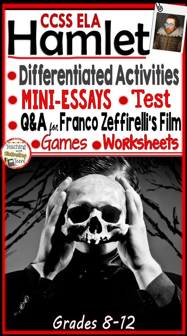 63158 best teaching images on pinterest teaching ideas learning hamlet activity bundle mini essays worksheets rti film qa games mc test fandeluxe Images