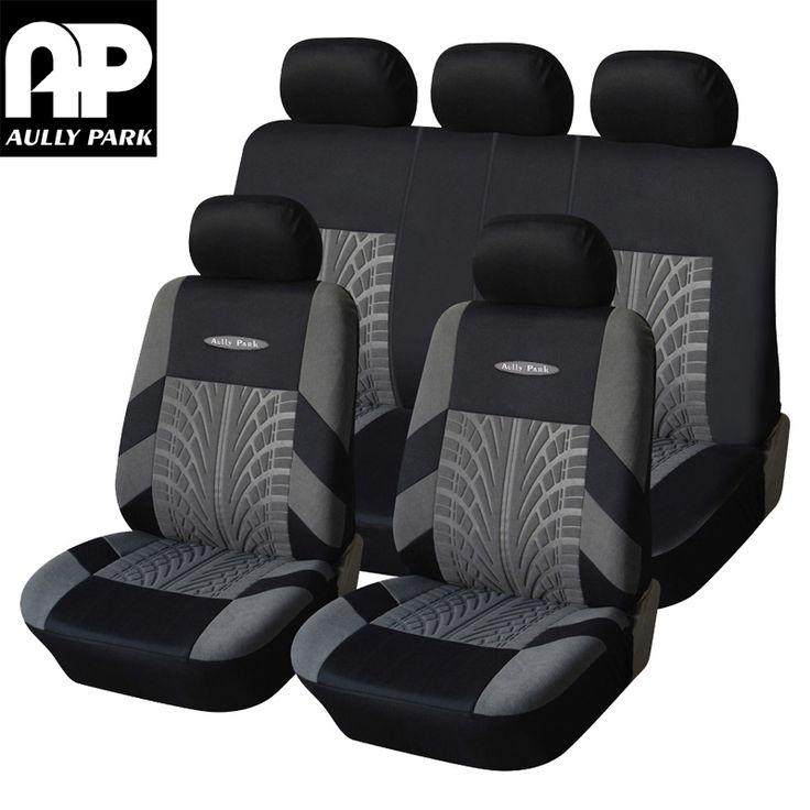 Aullyパーク車のシートカバーポリエステル生地ユニバーサル車のカバーカースタイリング車の座席プロテクターインテリアアクセサリー