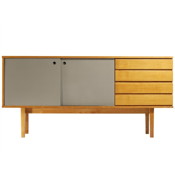 1950s Ash Cabinet by Pierre Guariche A.R.P. ❤ liked on Polyvore