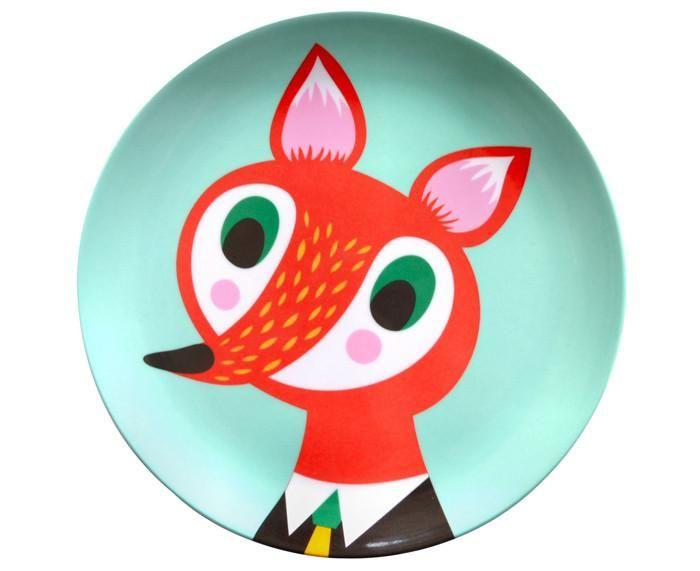 Melamine Fox Plate By Petit Monkey Helen Dardik Kids Plates Fox