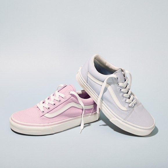 Pretty pastels ready for #Easter  Feat our @vans_europe Old Skool in Skyway Blue & Winsome Orchid #vans #bankholiday