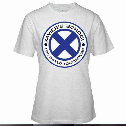 X-Men Xavier's School Logo Wolverine Magnito Superheroes Women White T-Shirt Size S to 3XL