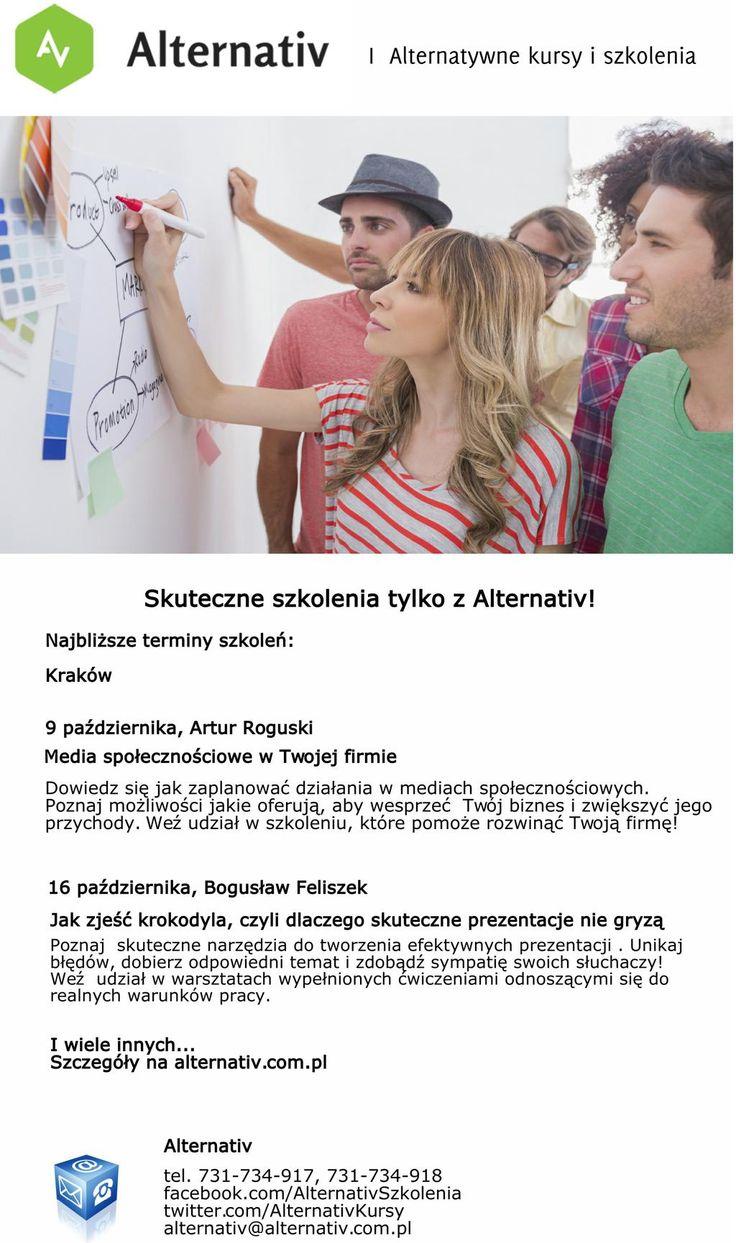 http://alternativ.com.pl/kursy/konferencje/ …  #szkolenia #socialmedia #prezentacje #Kraków pic.twitter.com/VhdQyOkcgc