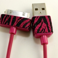 Hot pink iPhone, iPad or iPod charger. <3
