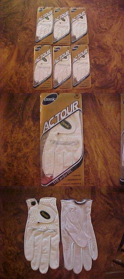 Golf Gloves 181135: 6 New Lh Etonic Ac Tour Coolmax Golf Gloves Mens Medium, For Left Handed Men BUY IT NOW ONLY: $33.0
