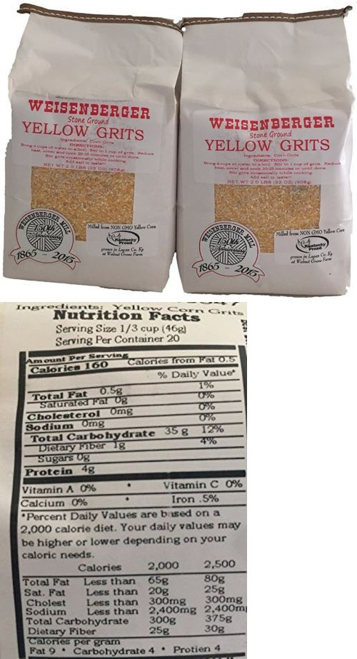 Bread 62694: Weisenberger Mills Southern Yellow Grits Non Gmo - A Ky Proud Product 2Lb Ea 2 -> BUY IT NOW ONLY: $30.56 on eBay!