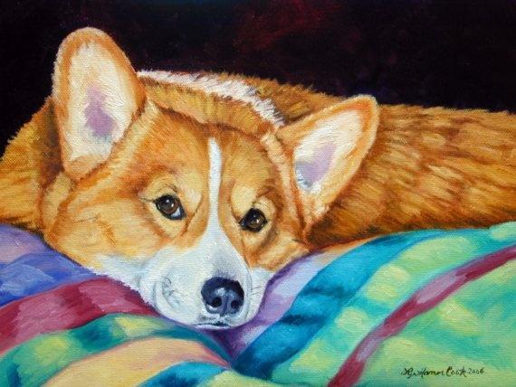 Pembroke Welsh Corgi Giclee Fine Art Print size by DogArtByLyn, $19.94