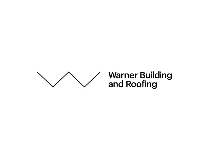 Warner Building and Roofing #building #logo