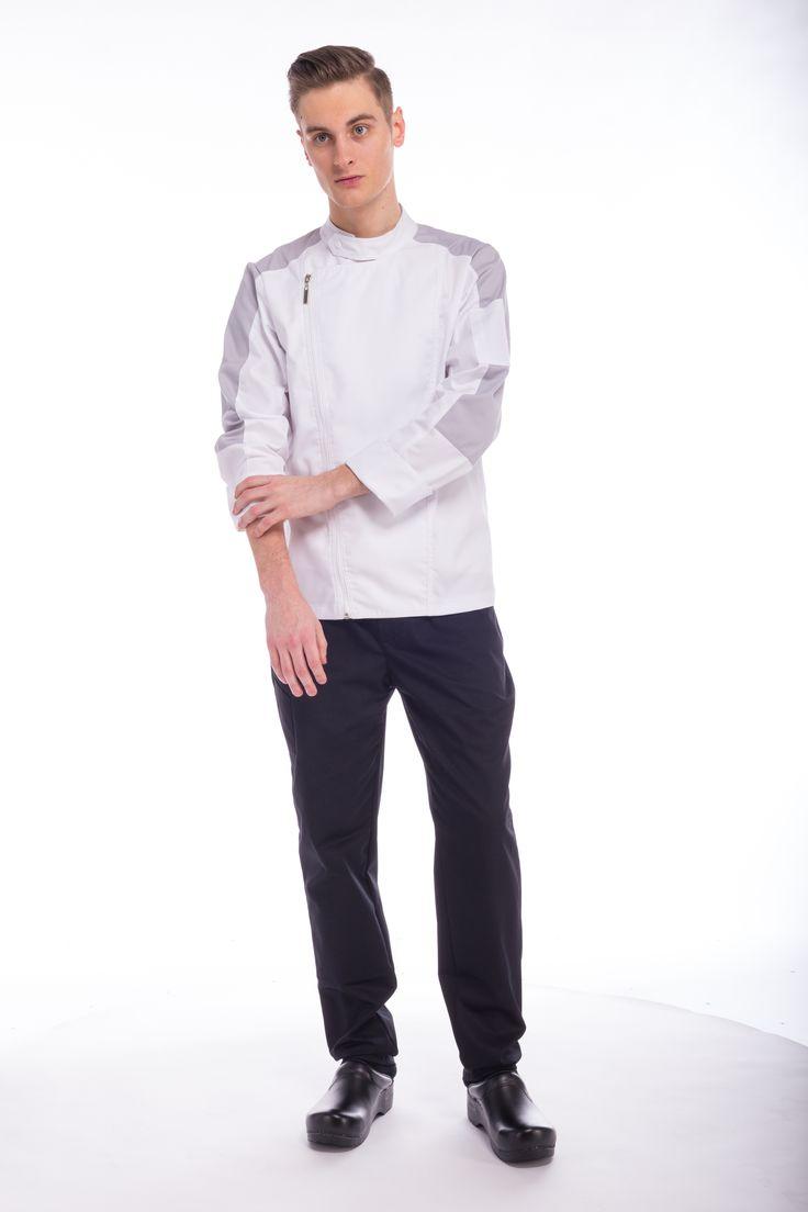 Bluza kucharska na suwak. www.kitle.pl