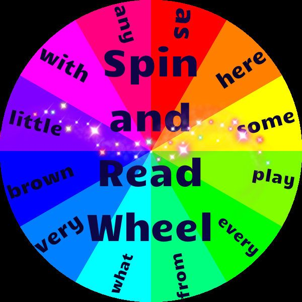 Free Spin and Read Wheel ! Great tool to make sight word