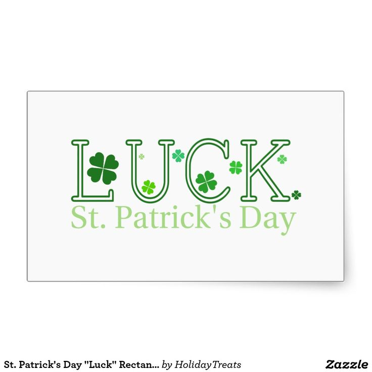 "St. Patrick's Day ""Luck"" Rectangular Sticker"