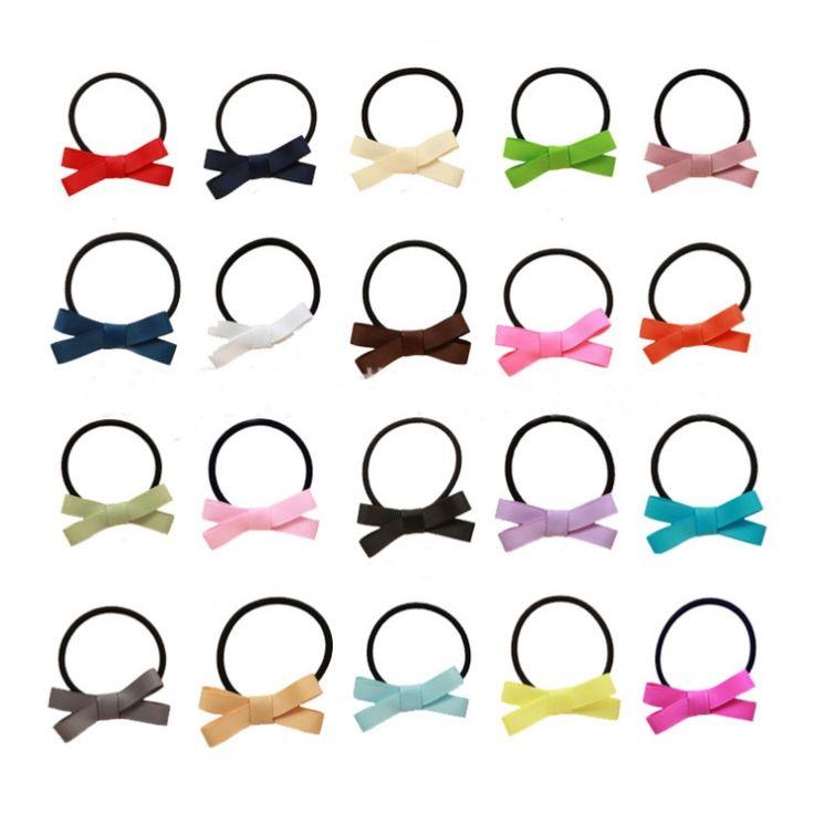 2016 headband Polyester kids soft summer hair accessories girl's Black rubber band Korean hair ring elsa hair bows hello kitty