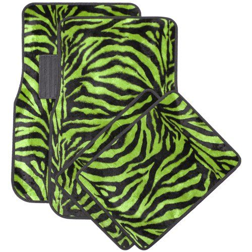 Oxgord Front & Back Seat Zebra/Tiger Stripe Carpet Mats for for Car/Truck/Van/SUV, Lime Green & Black - http://www.caraccessoriesonlinemarket.com/oxgord-front-back-seat-zebratiger-stripe-carpet-mats-for-for-cartruckvansuv-lime-green-black/  #Back, #Black, #CarTruckVanSUV, #Carpet, #Front, #Green, #Lime, #Mats, #OxGord, #Seat, #Stripe, #ZebraTiger #All-Green-Automotive, #Green-Automotive