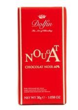 Dolfin 30g. Ciocolata neagra 60% cu Nuga