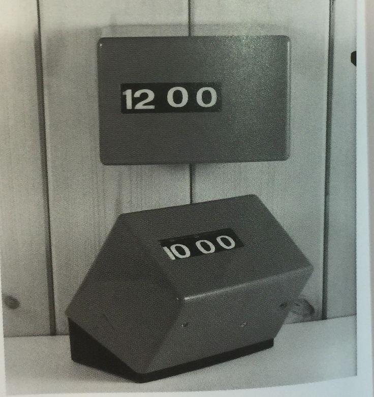 Computim digital wall/desk clocks, 1969  Designer: Robert Welch Associates  Manufacturer: Anglo Continental Clock Co, Newport Pagnell, Buckinghamshire