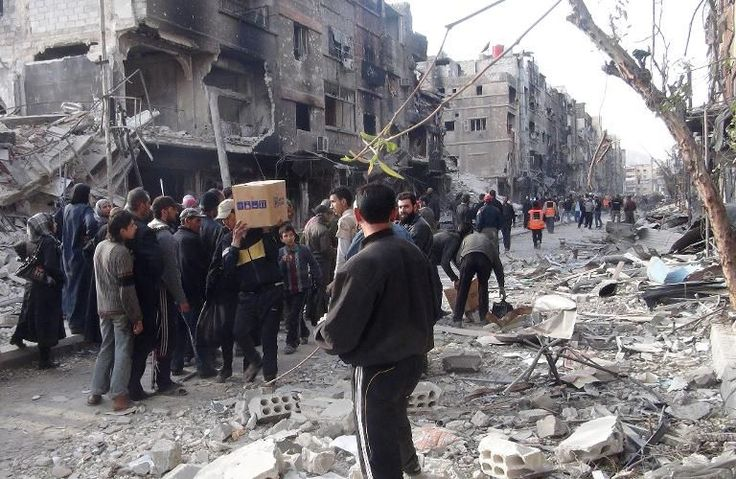 Les difficultés d'acheminement de l'aide humanitaire.