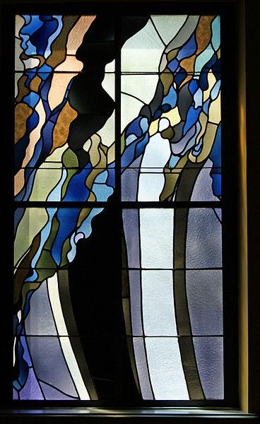 Krakow Medical Society house, stained glass window, 1904 Radziwillowska street, Krakow