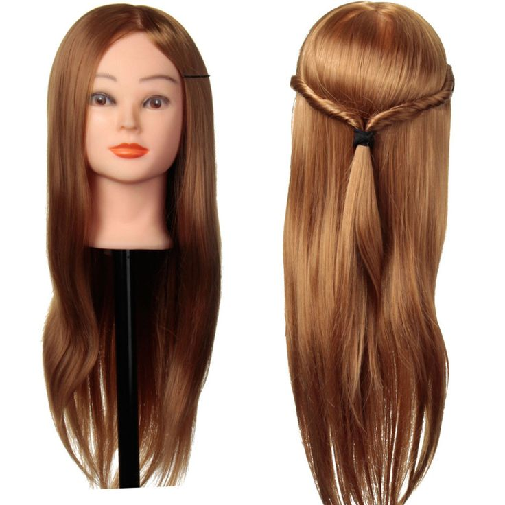 24 Inch 30% Real Long Human Hair Hairdressing Training Head Practice Model With Clamp Holder