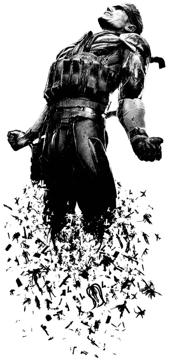 "Solid Snake Promo Artwork ""In his final battle, a hero must stand alone"""