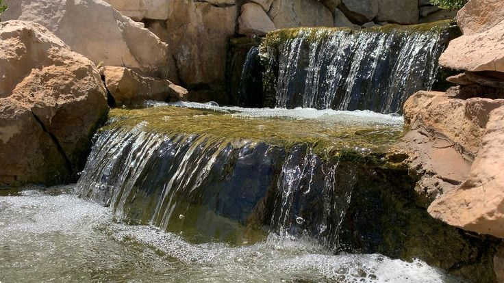 Cool clear water along the riverwalk in san angelo texas