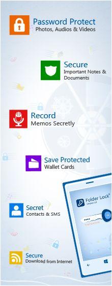 Benefits of Using Folder Lock for Phone 8  http://www.newsoftwares.net/folderlock/windows-phone/benefits