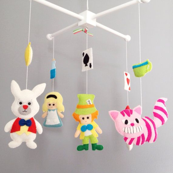 Ready To Go Crib Mobile Alice In Wonderland Baby Mobile