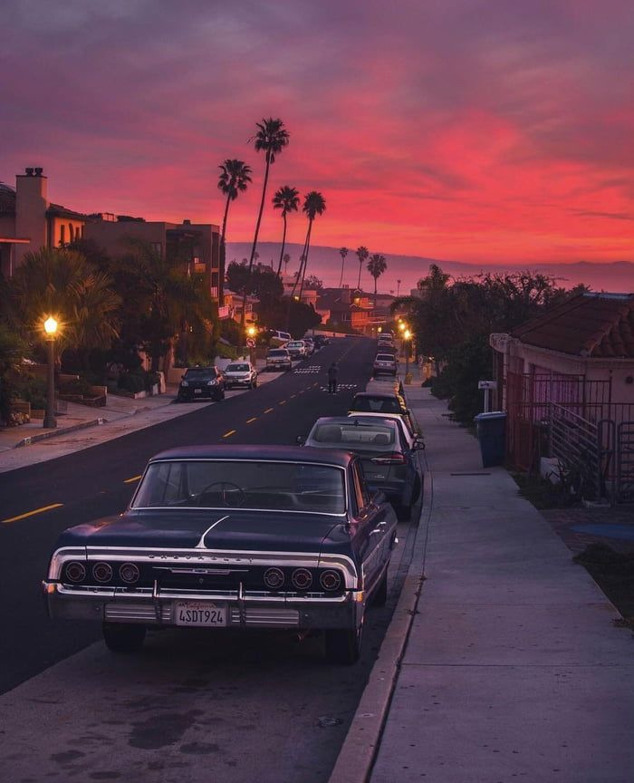 Old Time Sunset At Los Angeles California Vibe Pictures Sunset
