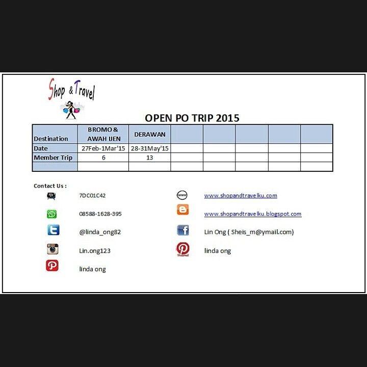 Open PO Trip 2015 Shop&Travelku.com