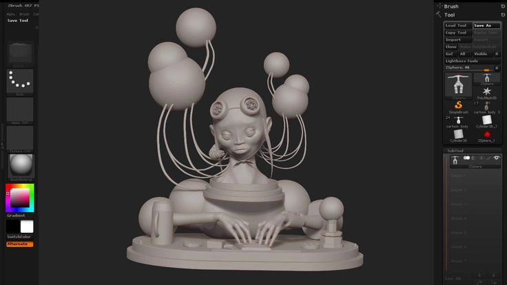 Refine a character in ZBrush and KeyShot