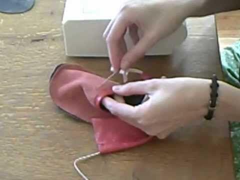 Nähanleitung für Lederpuschen zum selber nähen --- Krabbelschuhe --- - YouTube