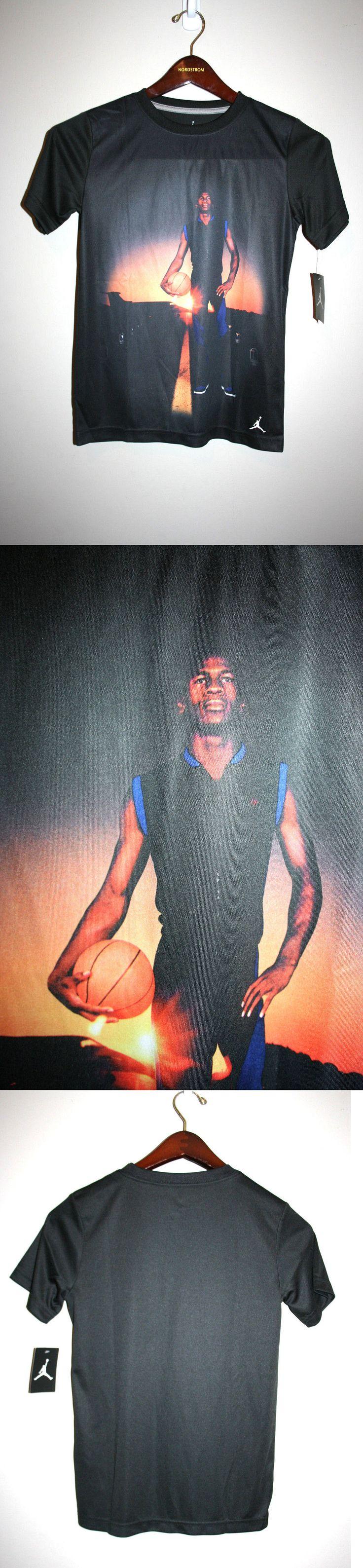 Michael Jordan Baby Clothing: New Boys Michael Jordan Air Black Short Sleeve Basketball T-Shirt 8 10 Nwt -> BUY IT NOW ONLY: $19.95 on eBay!