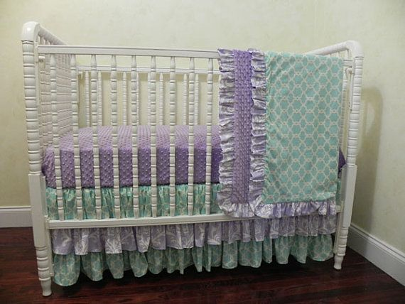 133 best Baby Girl Bumperless Crib Bedding images on ...
