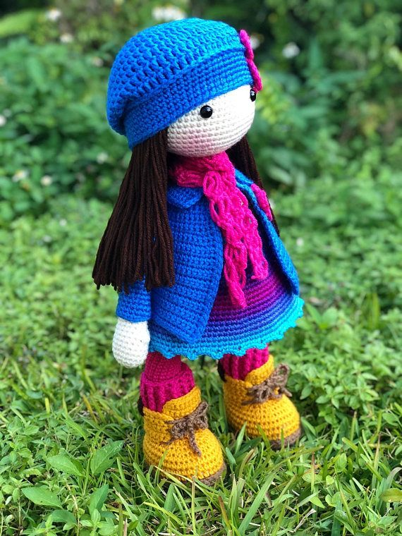 Crochet pattern for doll LILLY (Deutsch, English, French ... | 760x570