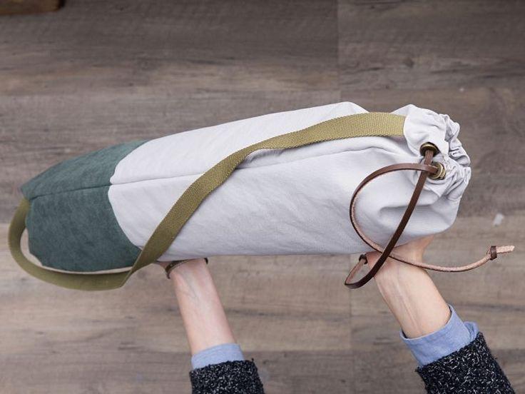 Tutoriel DIY: Coudre un sac de gym en toile via DaWanda.com