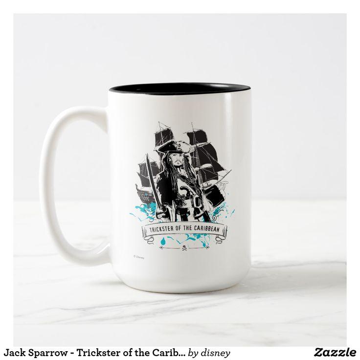Jack Sparrow - Trickster of the Caribbean. Regalos, Gifts. Producto disponible en tienda Zazzle. Tazón, desayuno, té, café. Product available in Zazzle store. Bowl, breakfast, tea, coffee. #taza #mug