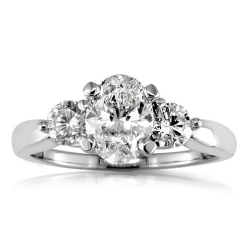 7 best oval round side stone rings images on Pinterest Diamond