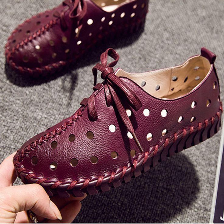 Новая Коллекция Весна Лето Кожаные Ботинки Женщины Квартиры Узелок Женщины Мокасины Мокасины Повседневная Ручной Женщина Обувь для Вождения 5 Цвета купить на AliExpress