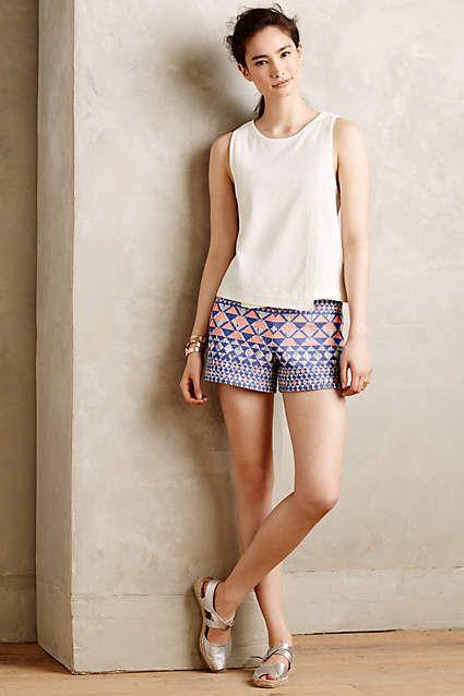 Mesa Jacquard Petite Shorts - anthropologie.com