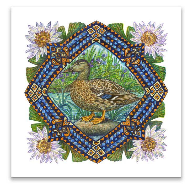 Art Panel ~ Hawaiian Duck
