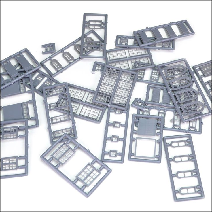 80-piece N Scale Window and Door Parts Assortment